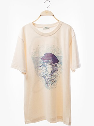 1105 Round Neck T-Shirt : Dolphin Screen