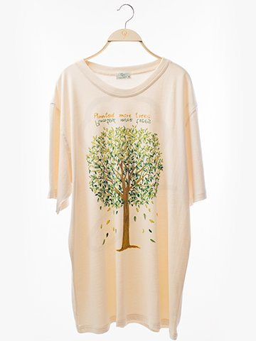 12107 Round Neck T-Shirt : Tree Screen