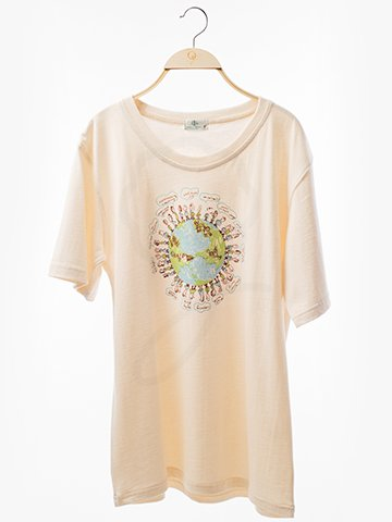 12108 Round Neck T-Shirt : Globe Screen