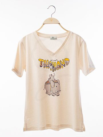 12125 V-Neck T-Shirt : Elephant Thailand Screen