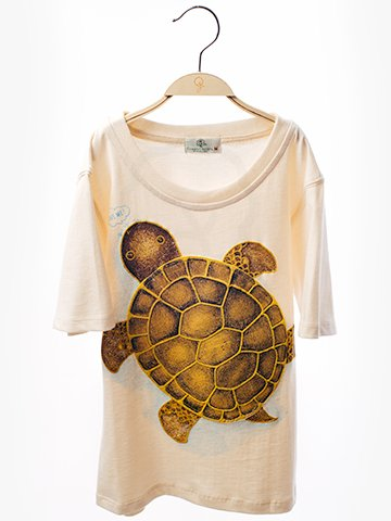1227 Round Neck T-Shirt : Turtle Screen