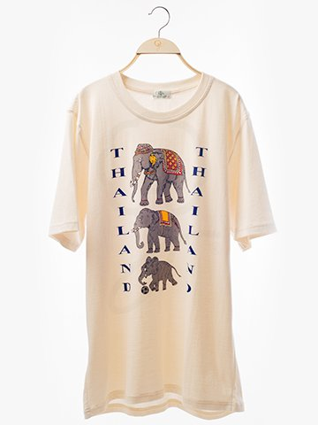 1577 Round Neck T-Shirt : Elephant Thailand Screen