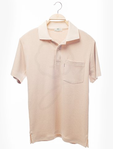 1734 Polo-Shirt : Rain Drop Style Fabric