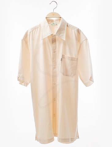 1870 Short Sleeves Shirt : Satin Cotton