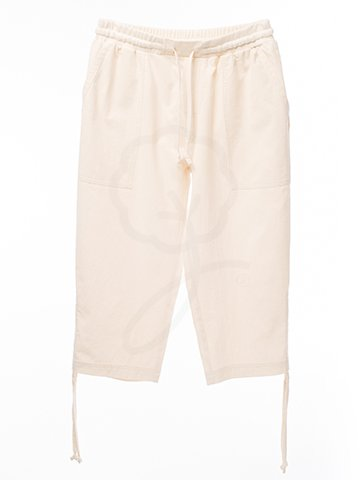2070 3/4 Long Pants : Crinkle Wash Fabric