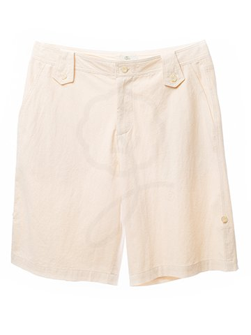 2122 Short Pants : Crinkle Wash Fabric
