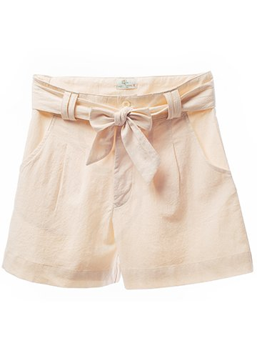 2134 Short Pants : Crinkle Wash Fabric